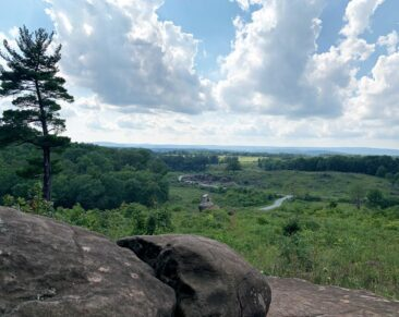 View from Little Round Top in Gettysburg