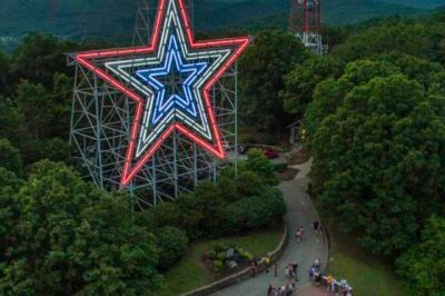 The Roanoke Star (Mill Mountain Star). Source: VisitRoanokeVA.com
