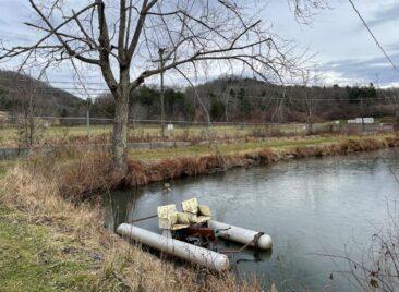 Abandoned pedal boats at Lake Shawnee