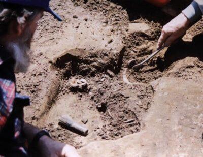 Lake Shawnee excavation discovery. Photo courtesy of WVlakeshawnee.com