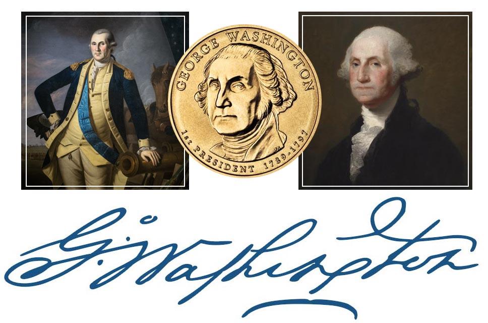 George Washington President Quarter, Signature, and Portrait