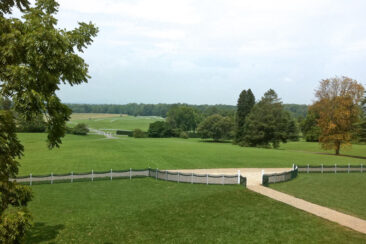 The view from the entrance to James Madison's Montpelier estate in Virginia