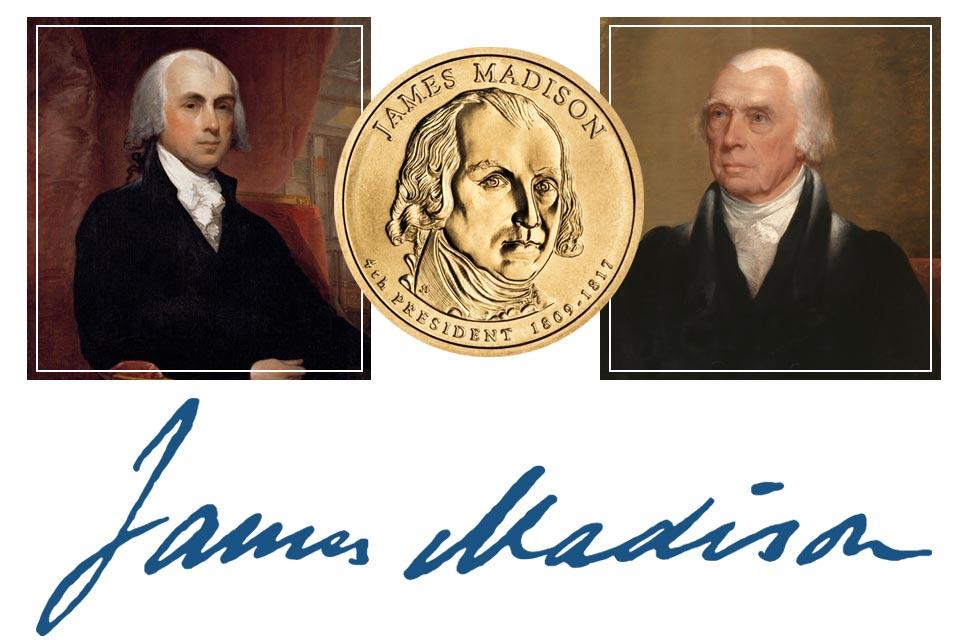 James Madison President Quarter, Signature, and Portrait