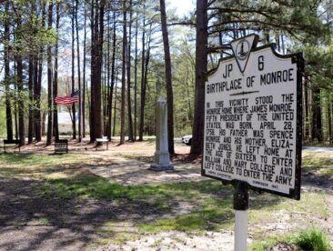 Birthplace of James Monroe in Virginia