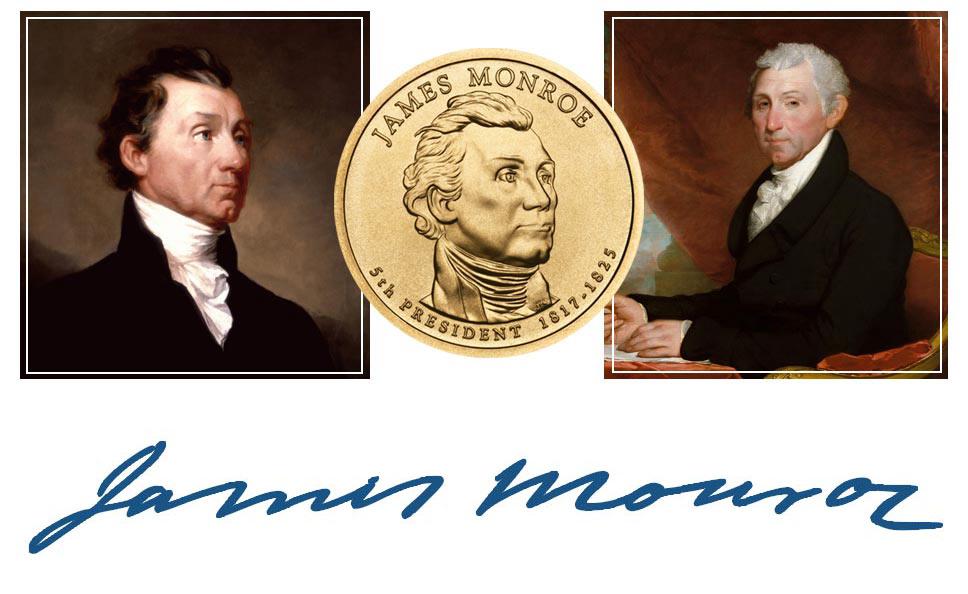 James Monroe President Quarter, Signature, and Portrait