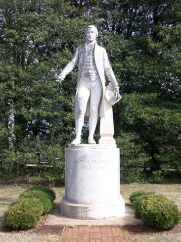 James Monroe statue at his Ashlawn estate in Virginia