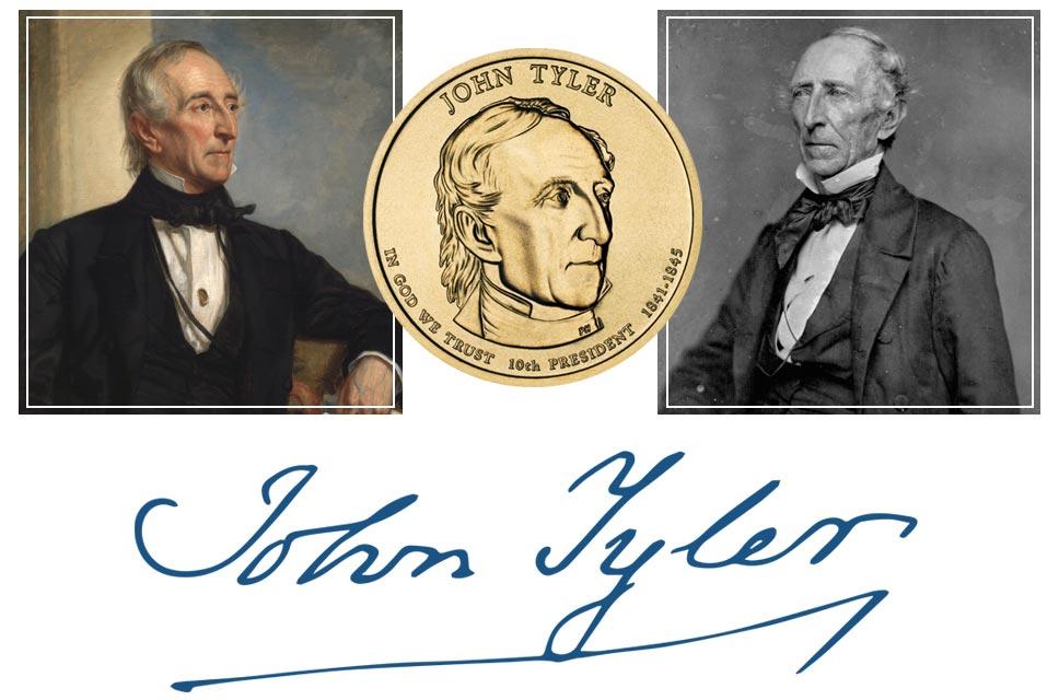 John Tyler President Quarter, Signature, and Portrait