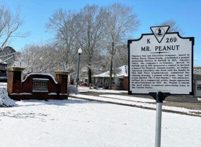 Mr. Peanut historical marker in Virginia