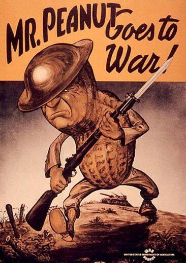 Mr. Peanut propaganda poster (Source: Wikipedia)