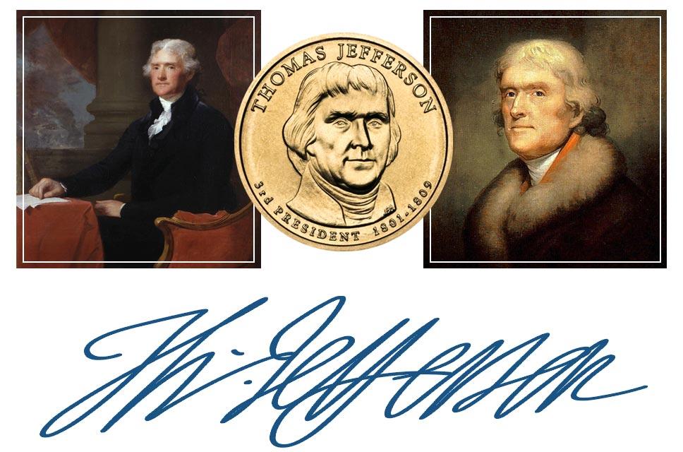 Thomas Jefferson President Quarter, Signature, and Portrait