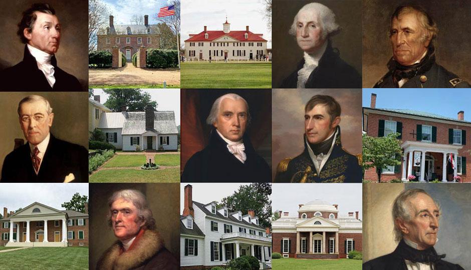 Virginia Presidents Houses