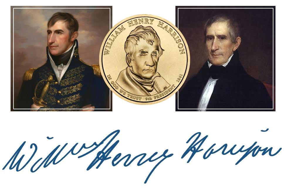 William Henry Harrison President Quarter, Signature, and Portrait