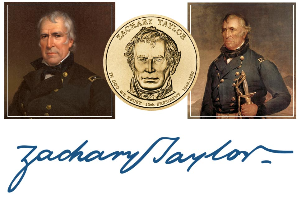 Zachary Taylor President Quarter, Signature, and Portrait
