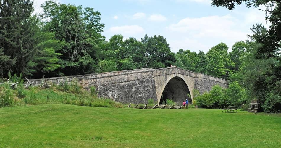 Casselman Bridge along the National Road in Maryland