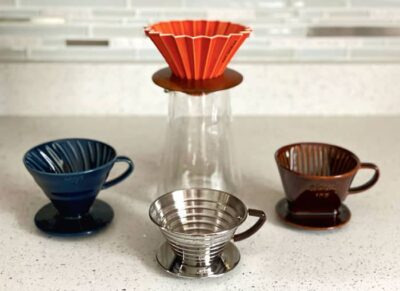 Origami Dripper, Hario v60, Kalita Pour-over Coffee Drippers