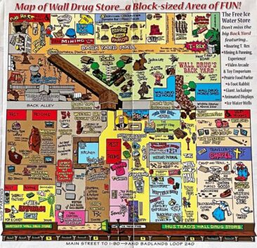 Map of Wall Drug