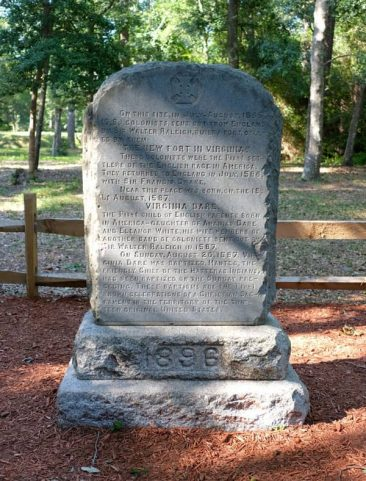 Virginia Dare Marker at Fort Raleigh